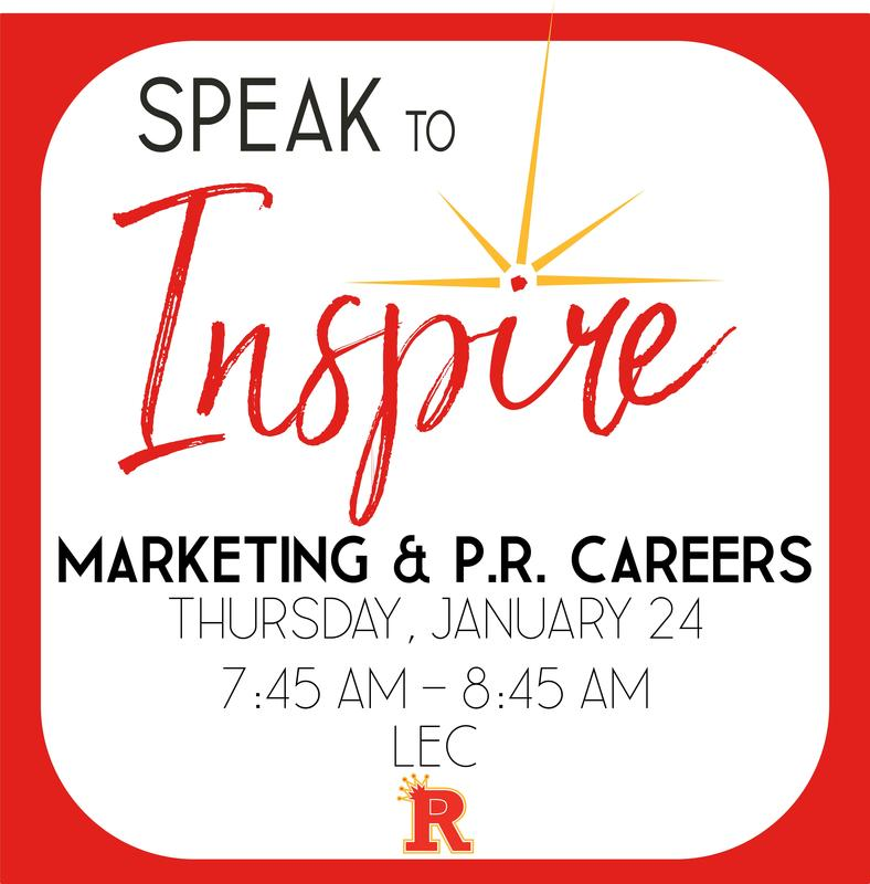 Speak to Inspire series will feature Marketing & PR careers Featured Photo