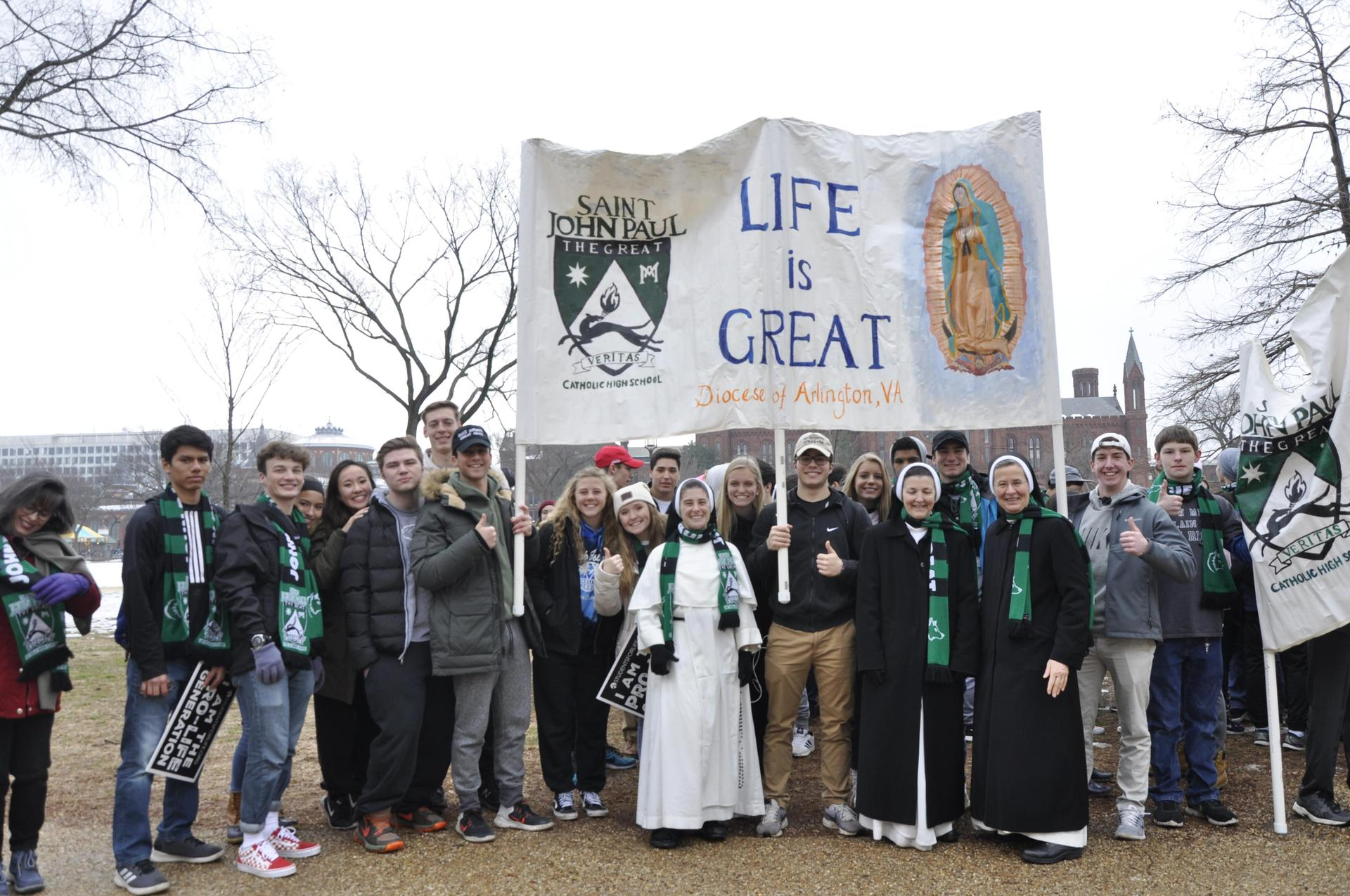 Members of the community at the March for Life