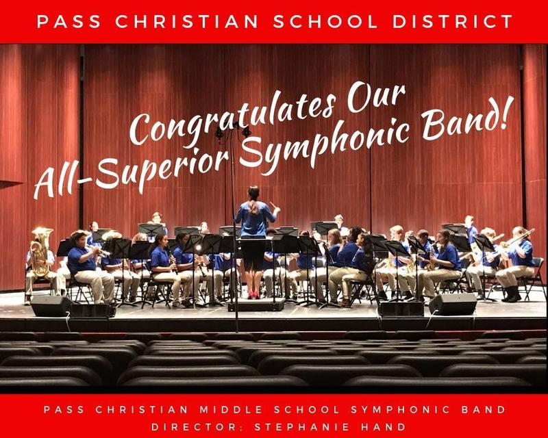Pass Christian Middle School Band Earns All-Superior Ratings Featured Photo