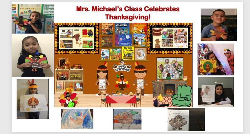 Thanksgiving bitmoji classroom collage