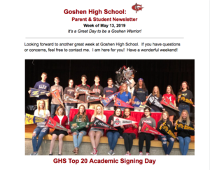 GHS newsletter for the week of May 13th!