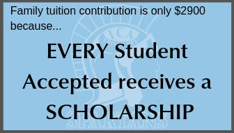Family tuition contribution is only $2900 because every student accepted recieves a scholarship.