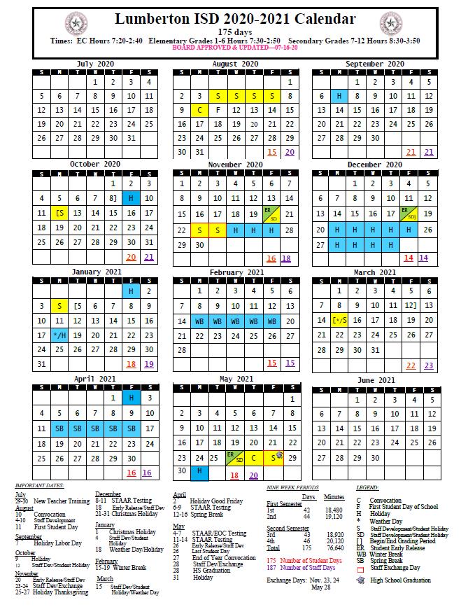 Lisd Calendar 2022.Lumberton Isd