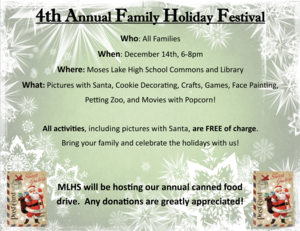 Annual Holiday Festival Flyer