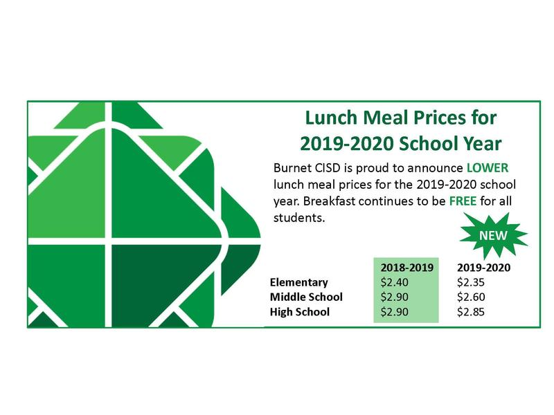 Lunch Meal Prices decrease for 2019-2020 School Year Thumbnail Image