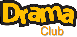 Yellow letters spelling DRAMA CLUB