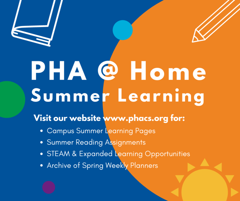 PHA @ Home Summer Learning Featured Photo