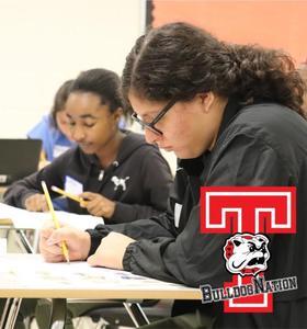 Bulldog Students Writing