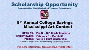 Mississippi Art Contest Graphic