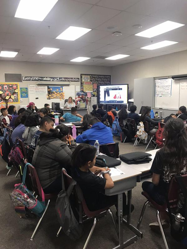 In honor of October being bullying prevention month, all 97 of our 6th grade Alcott Eagles received an Anti-Bullying Lesson. #proud2bePUSD #elementaryschoolcounseling