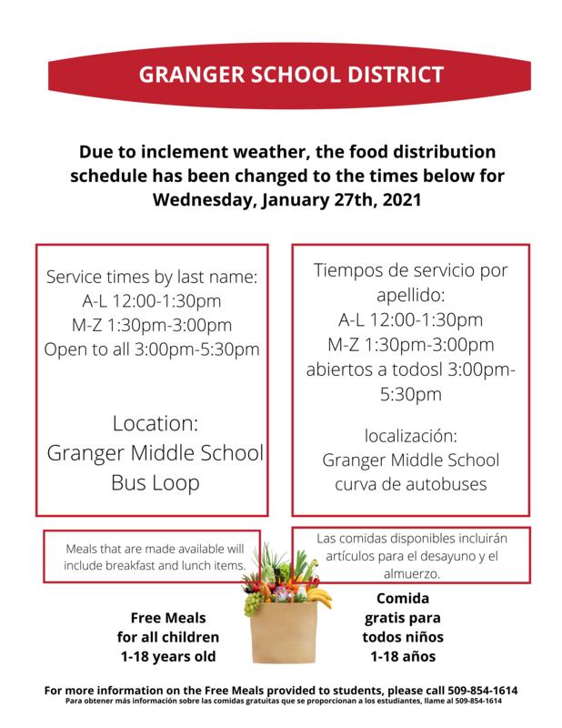 Food Service Change information