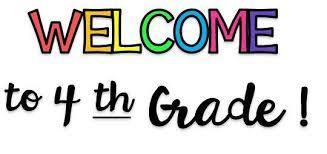Welcome 4th Grade