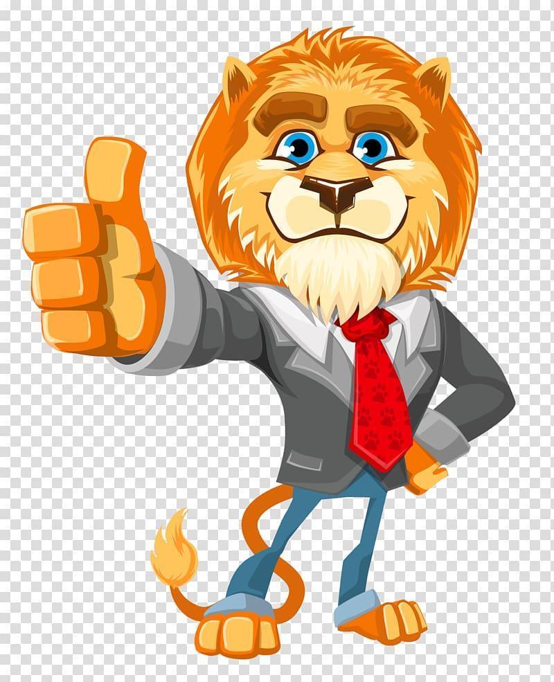 Lion in a Suit