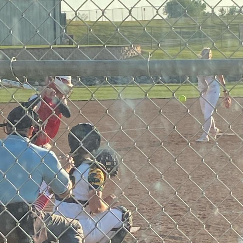 softball pitcher and catcher