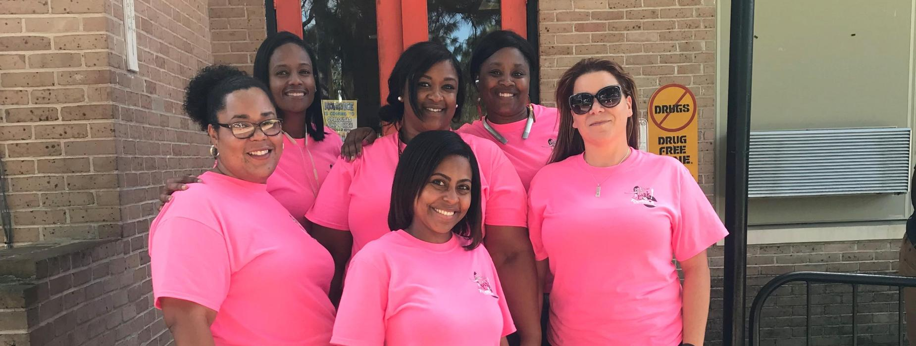 OJ Staff pink out for cancer awareness