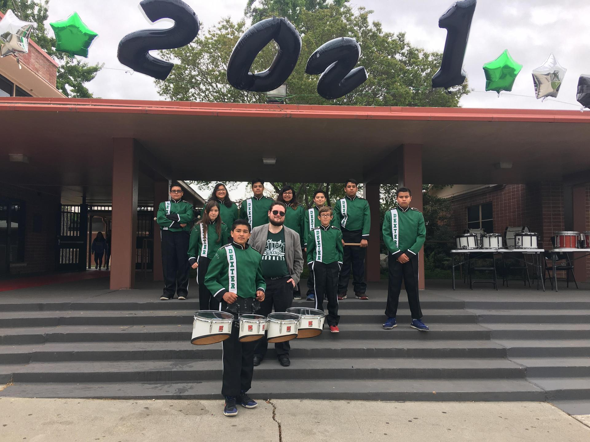 Mr. Parreco and the Dexter Drumline