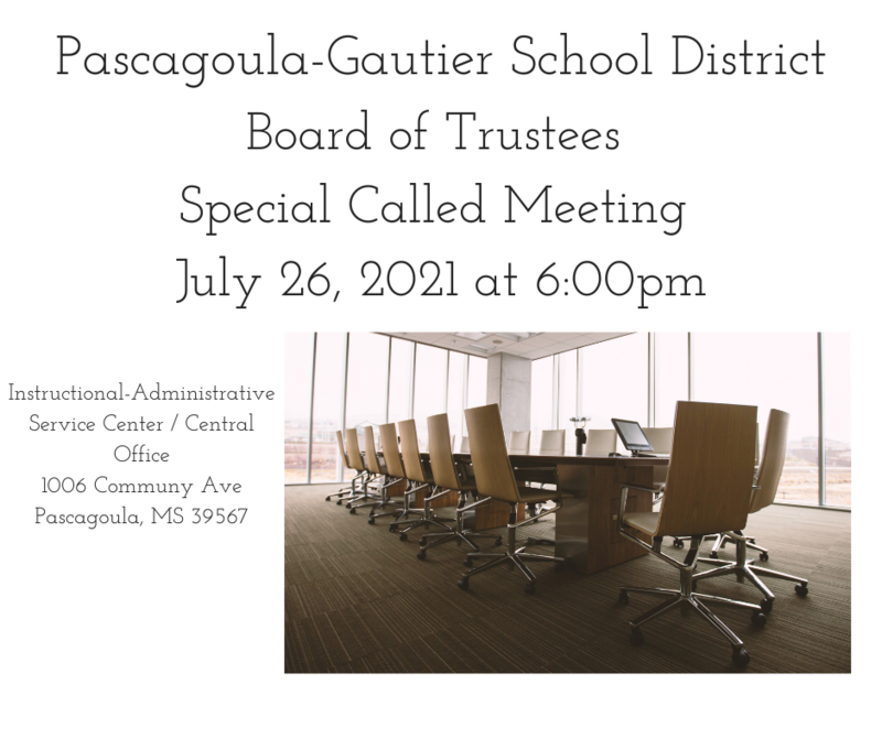 PGSD Special Called Meeting