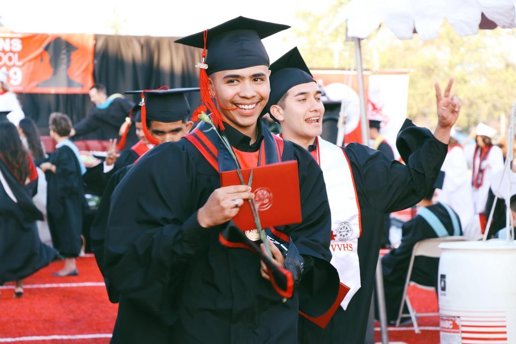 Class of 2019 graduate walks down aisle