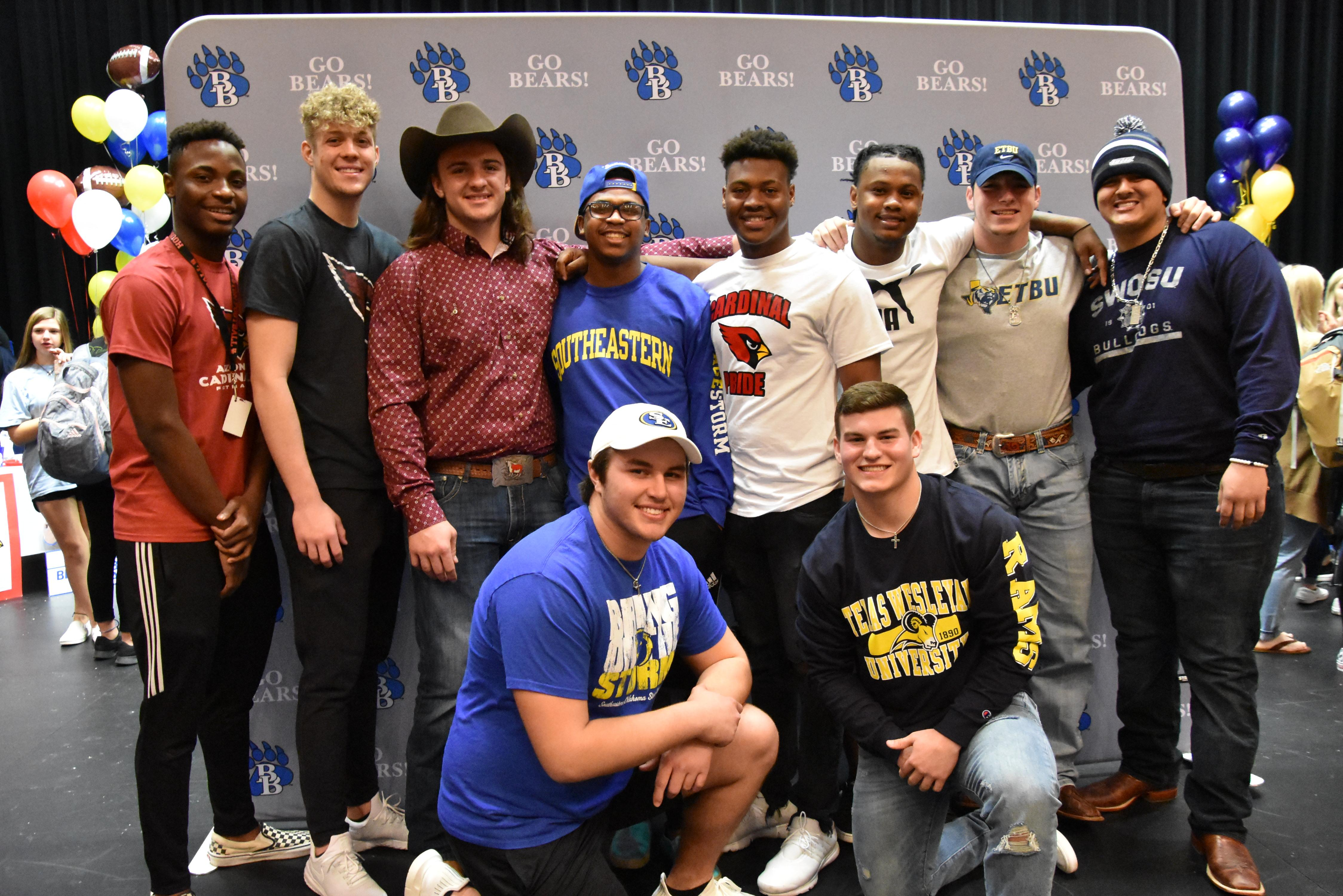 Ten Brewer Bears signed to play football on Feb. 6.