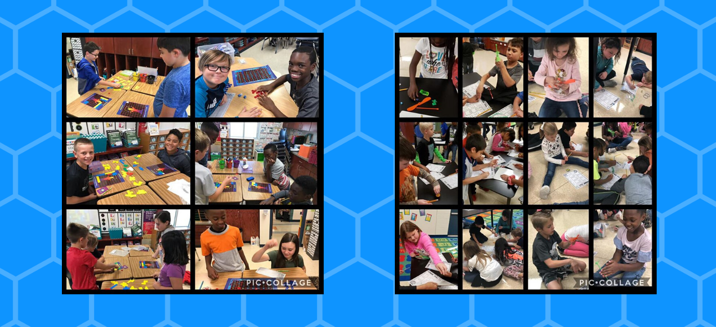 collage of students having fun with games and working collaboratively