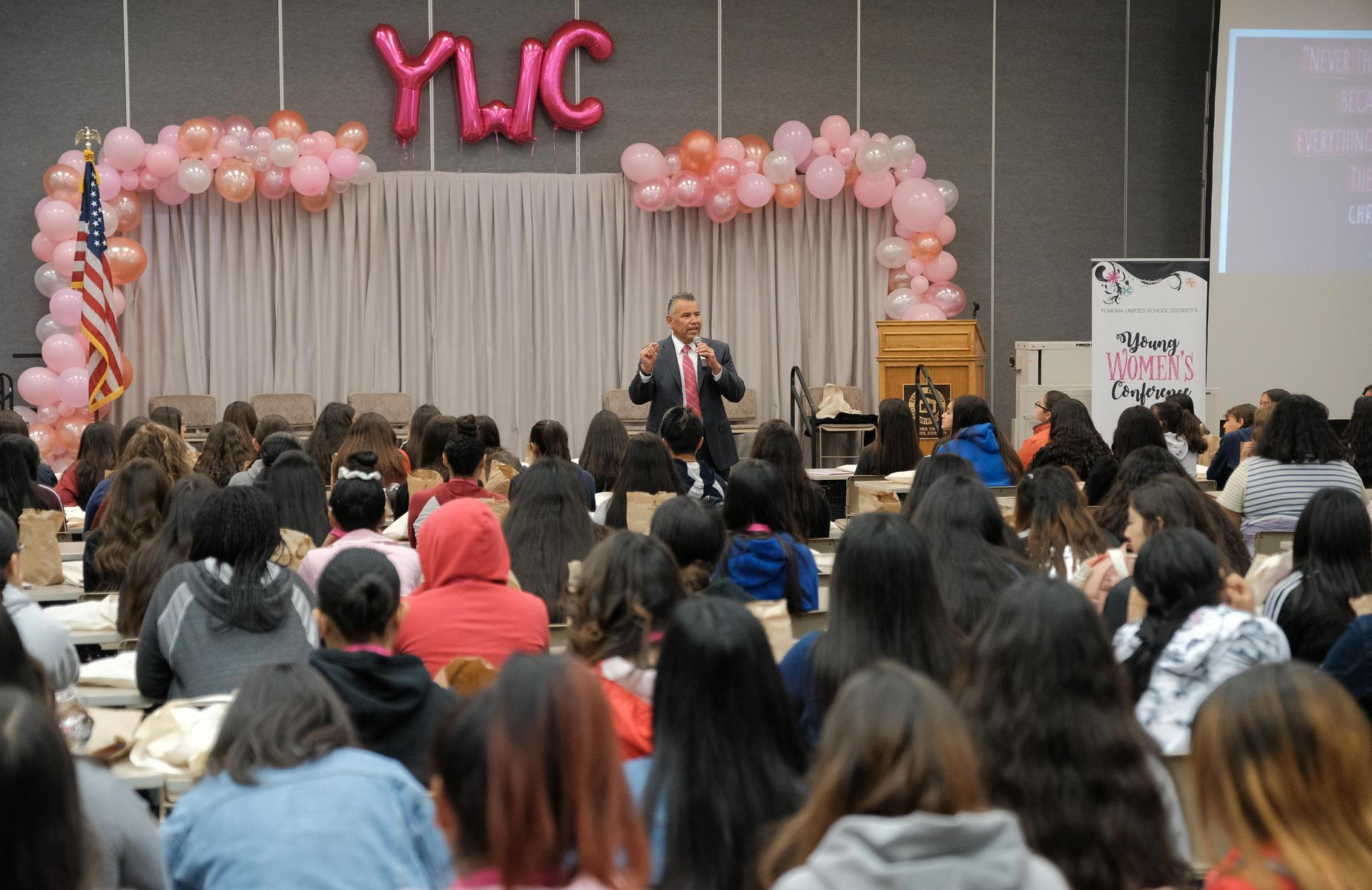 Superintendent Welcomes Students at the Annual Young Women's Conference