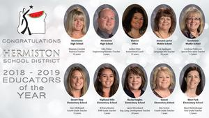 Faces of all of the Educators of the Year.