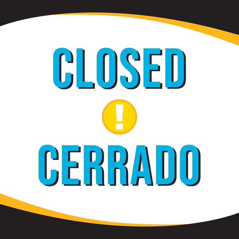 closed graphic