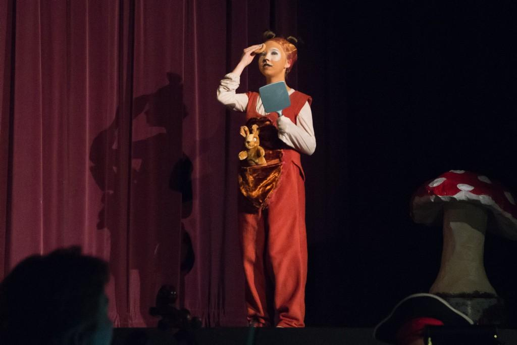 Student performing in Peter Pan the musical