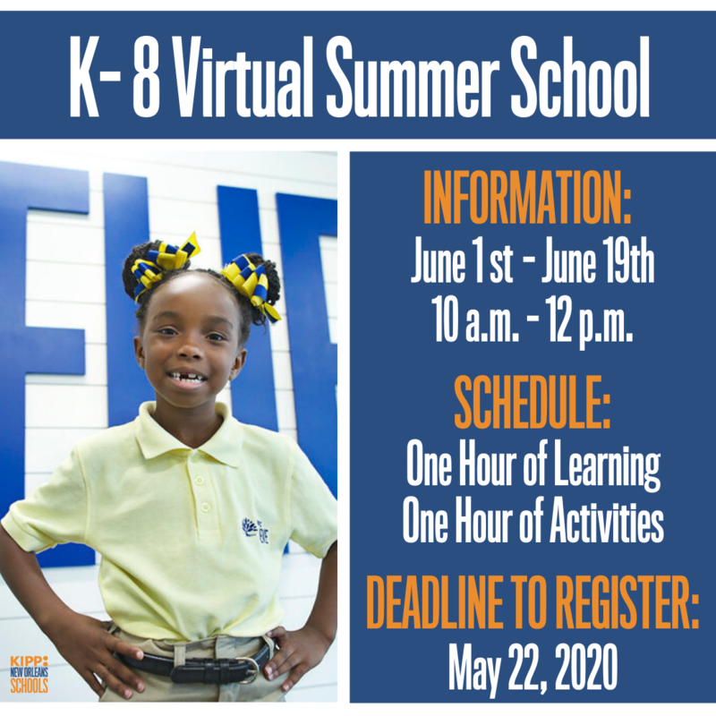 K-8 Virtual Summer School