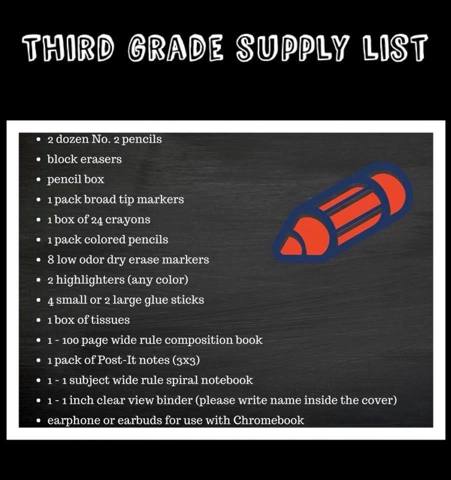 Supply List 6