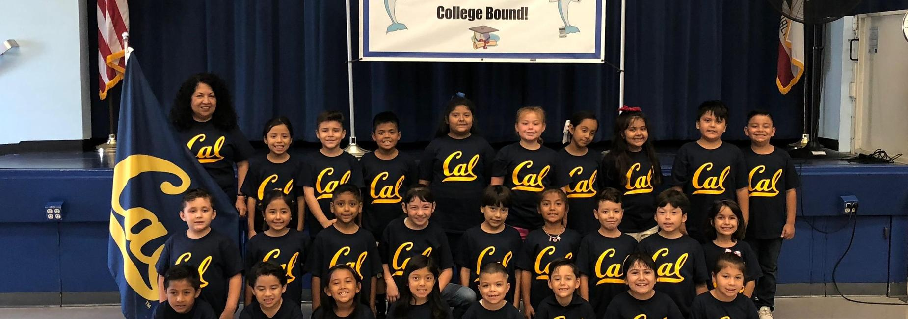 Students with Cal College Shirts