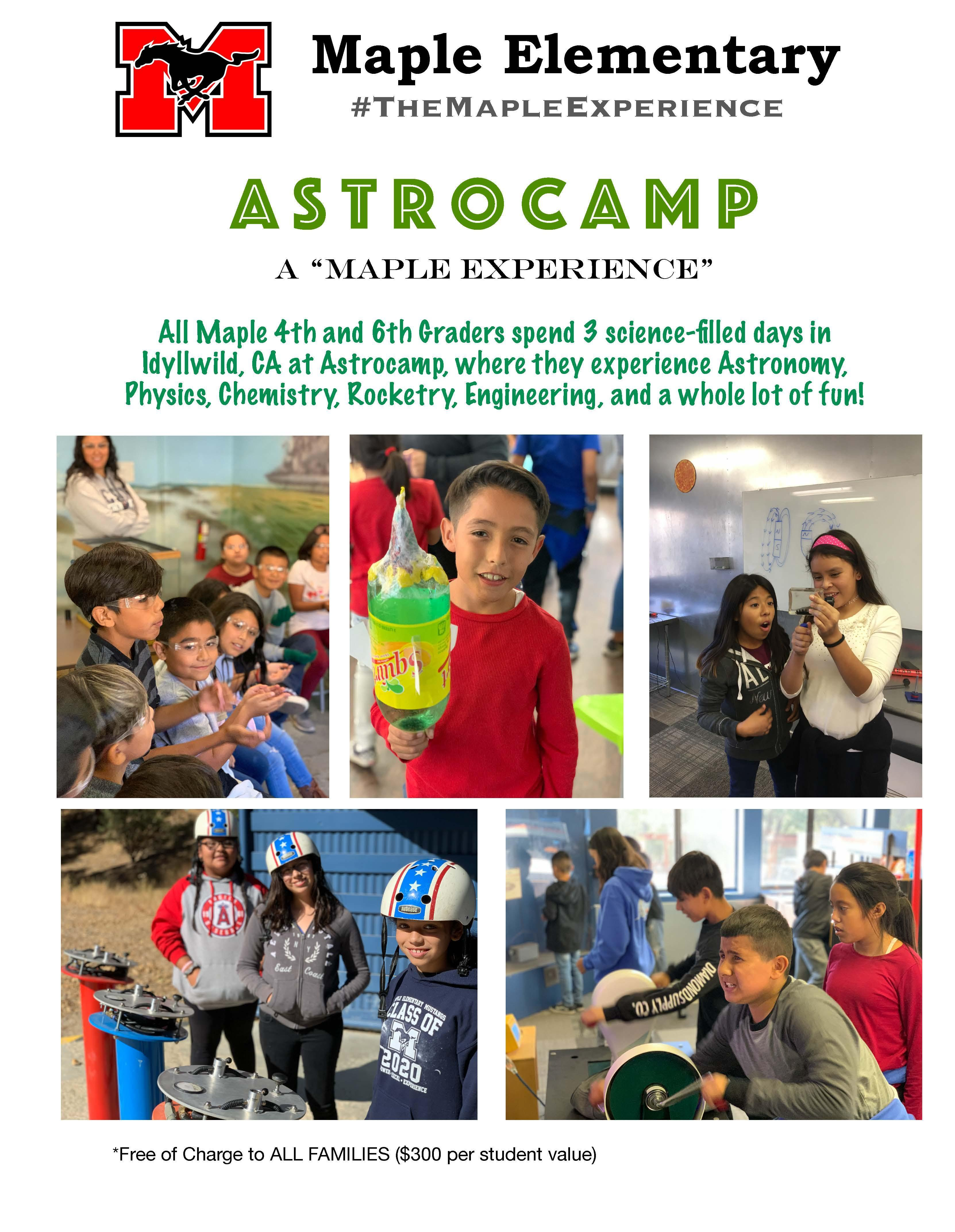 Astrocamp flyer