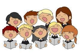 Choir kids singing