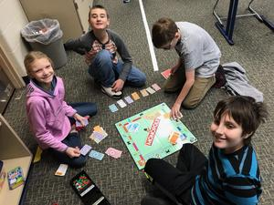 Students play a game during LINKS time.