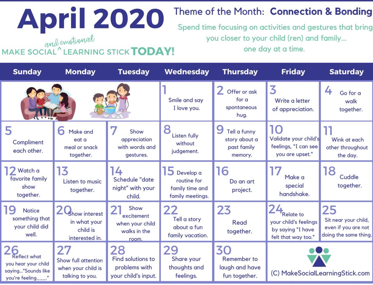 Social Learning Calendar
