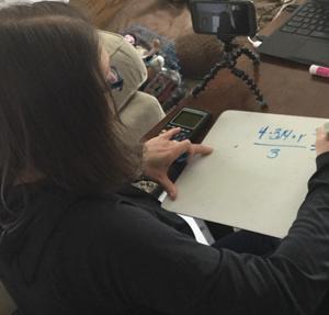 Mrs. Goodwin teaching math