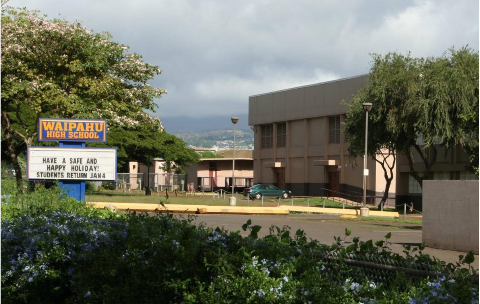 Waipahu High School Landscape
