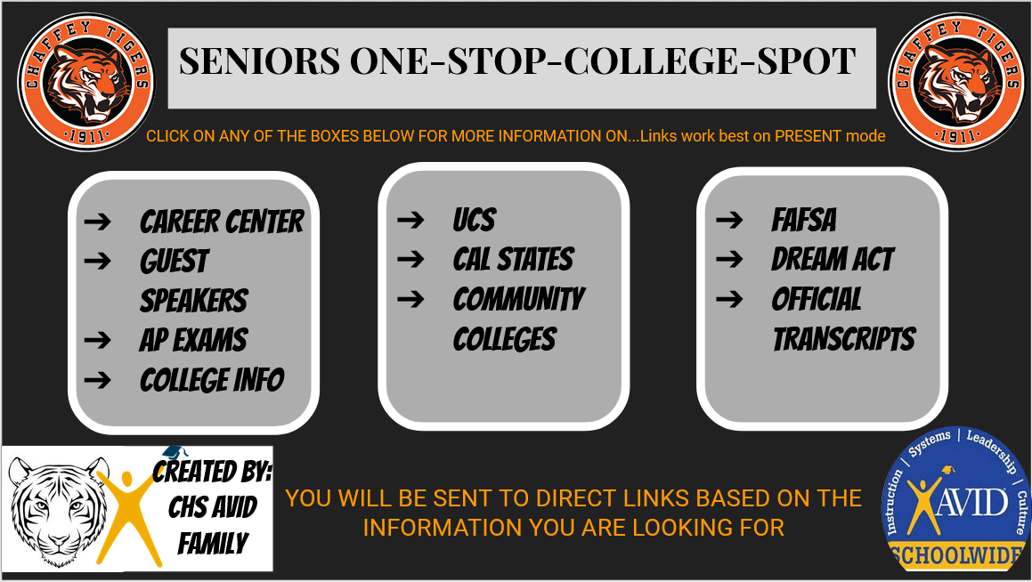Seniors One Stop College Information