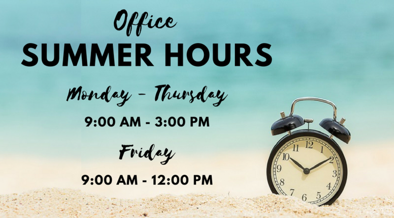 Office Summer Hours Thumbnail Image