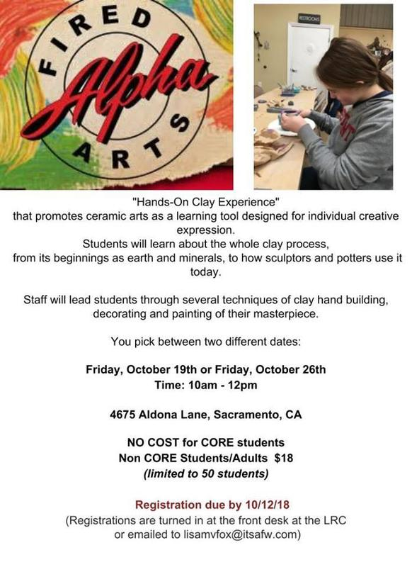 Alpha Fired Arts Flyer
