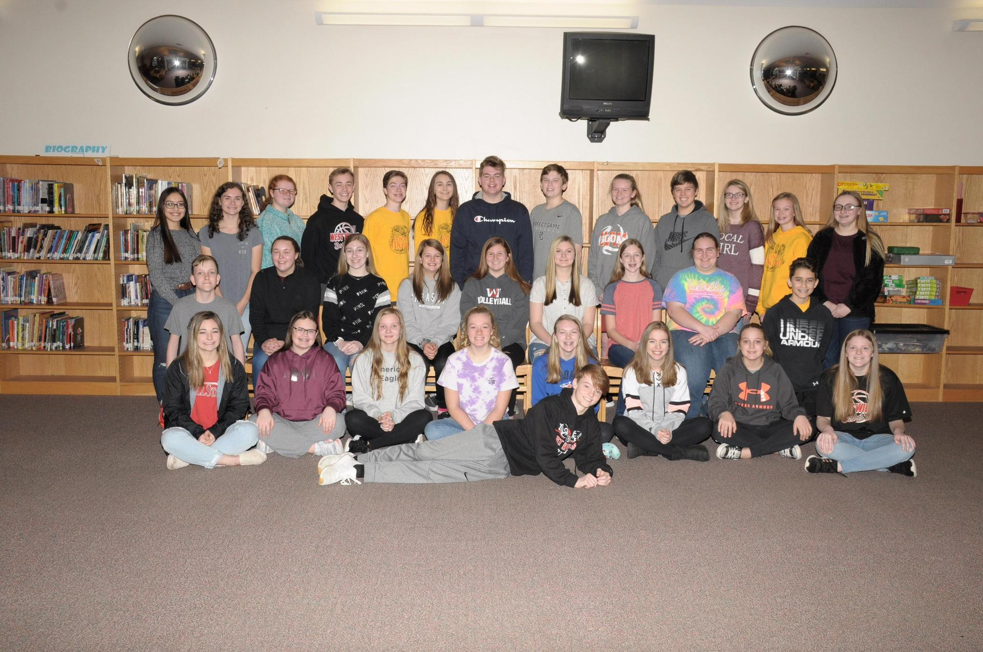 Image of 8th grade Beta Club