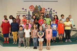 "Twenty-five students at B-L Elementary School were recently selected by the school's faculty members as displaying the character trait of ""Responsibility."""