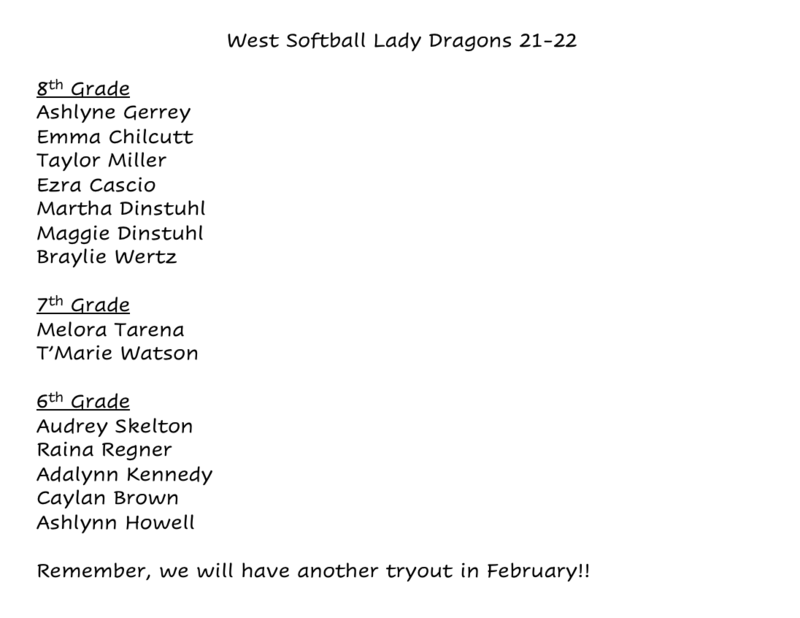 Congratulations to our 2021-22 WCMS Girls Softball Team! Featured Photo