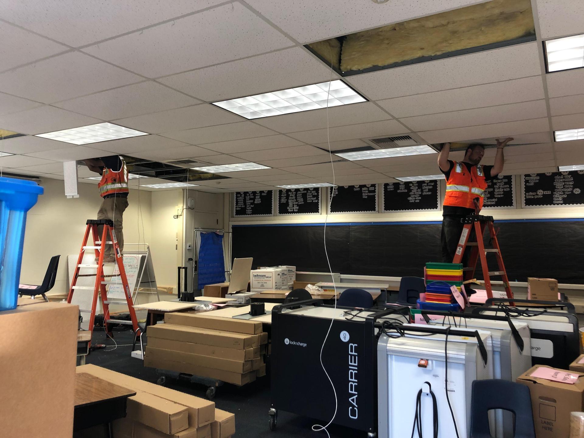 Installing classroom technology