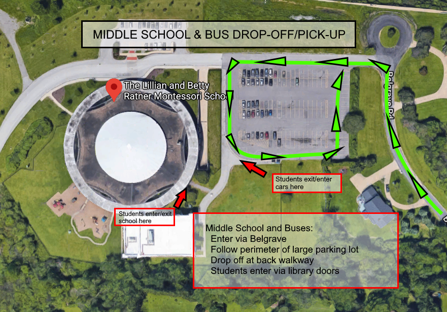 Middle School and Bus Arrival-Departure
