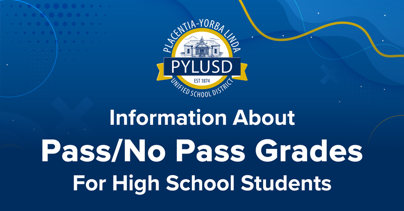 Information About Pass/No Pass Grades for High School Students from the 2020-2021 School Year Thumbnail Image