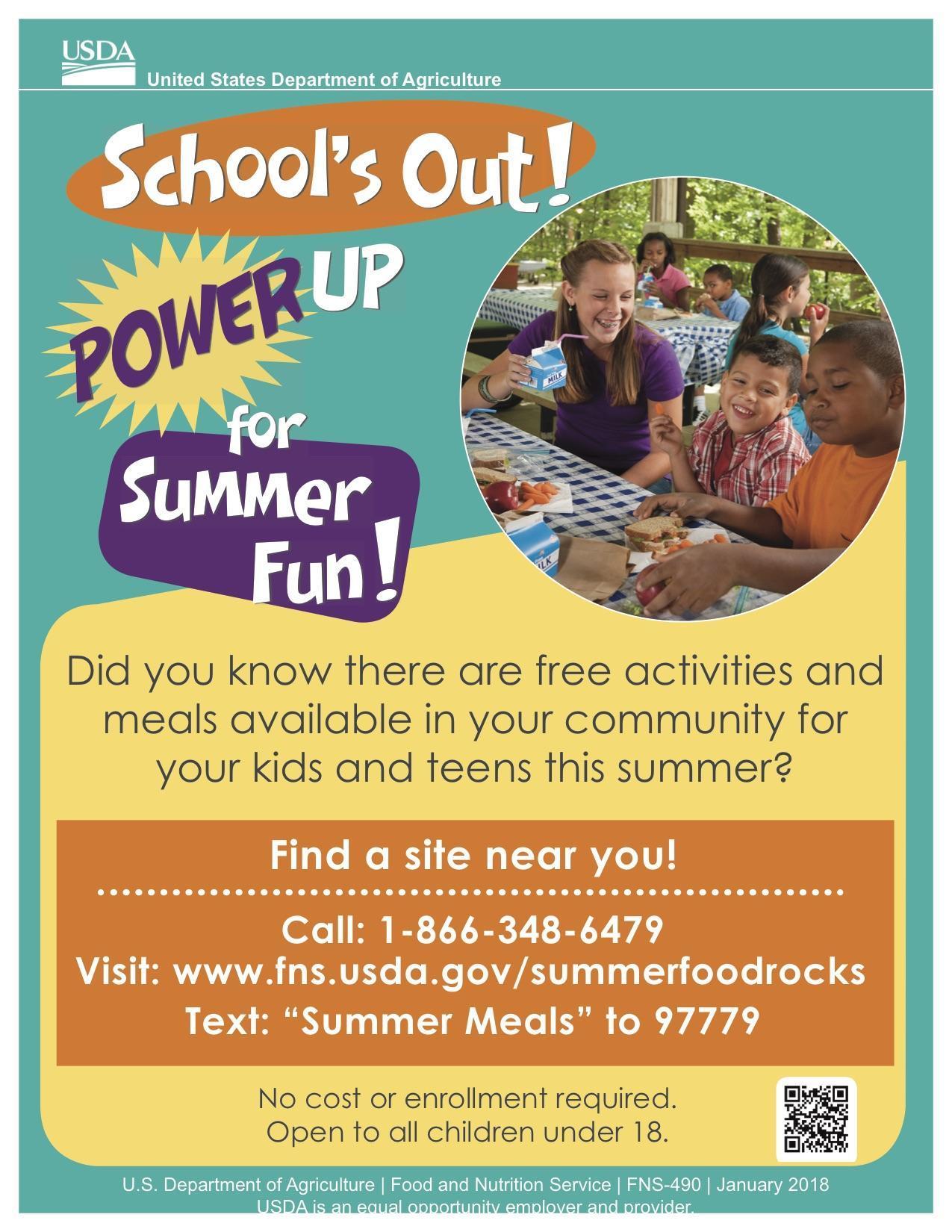 summer food program flyer