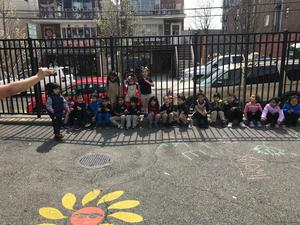 group class photo in the school yard