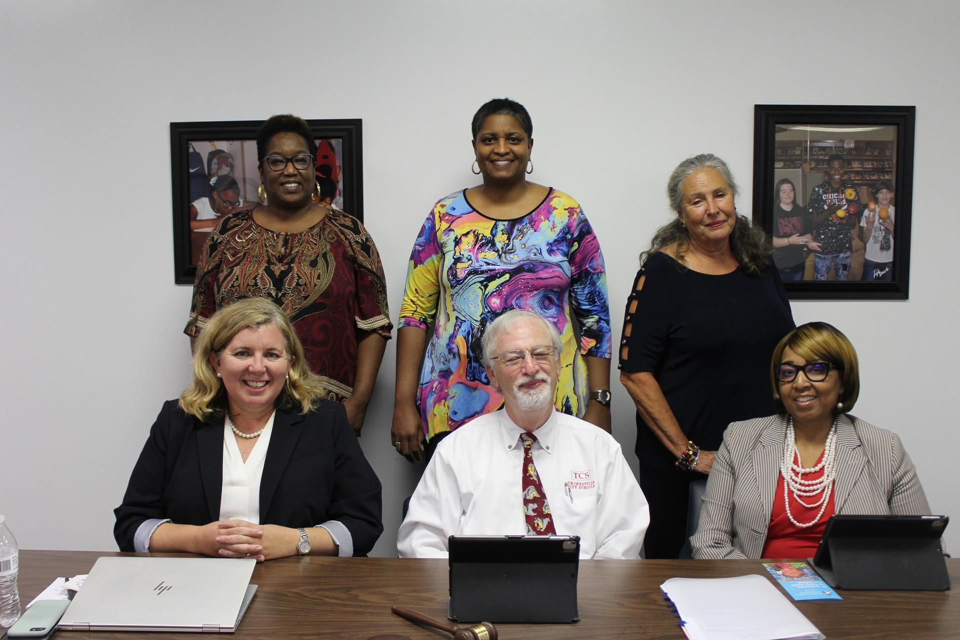 Dr. Cate Gentry Pictured with 2019-2020 Board of Education Members