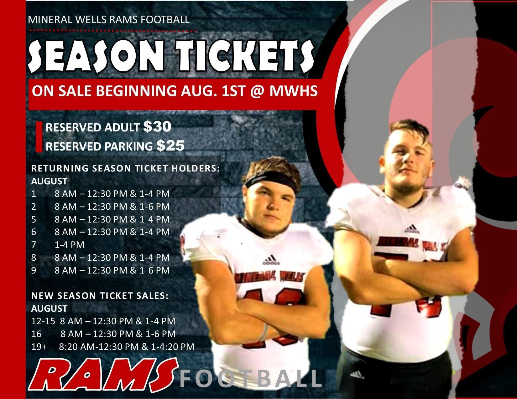 Season Ticket Dates